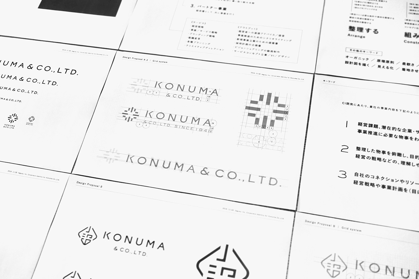 日本小沼商事LOGO及视觉形象设计