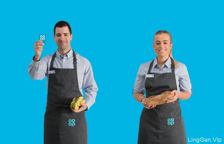 英国著名连锁超市Co-op品牌形象令人耳目一新