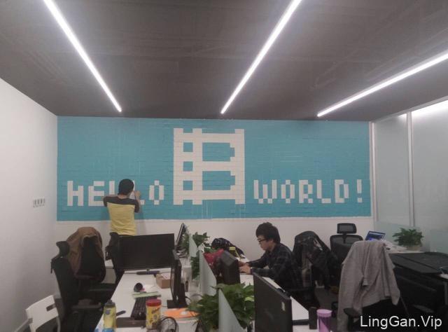 【超逼格】用便签纸做面LOGO文化墙