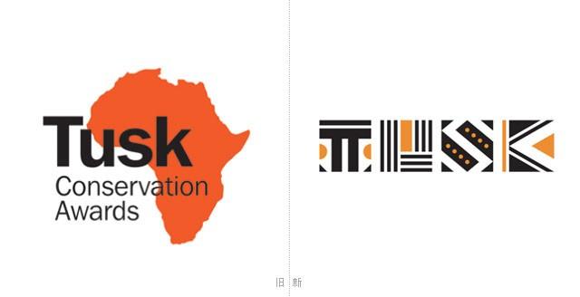 被誉为全球最佳VI设计的图斯克动物保护奖(Tusk Conservation) 视觉形象