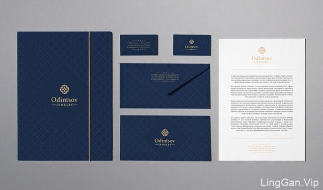 国外Odintsov珠宝品牌VI设计基础部分设计展示(二)