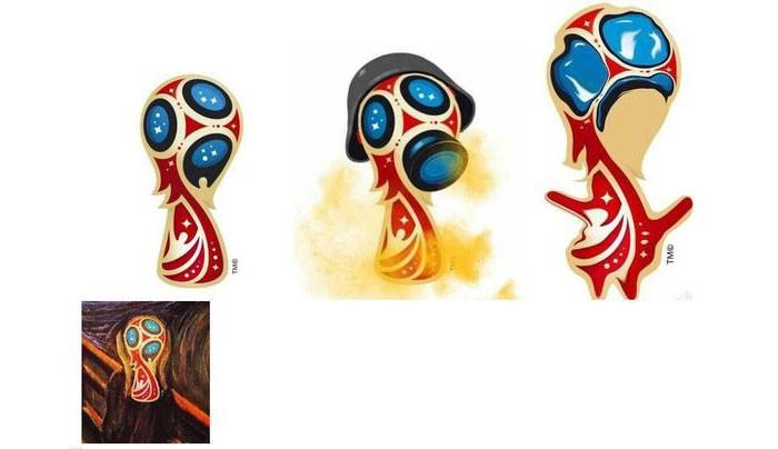 俄罗斯2018世界杯LOGO被全球网友各种恶搞