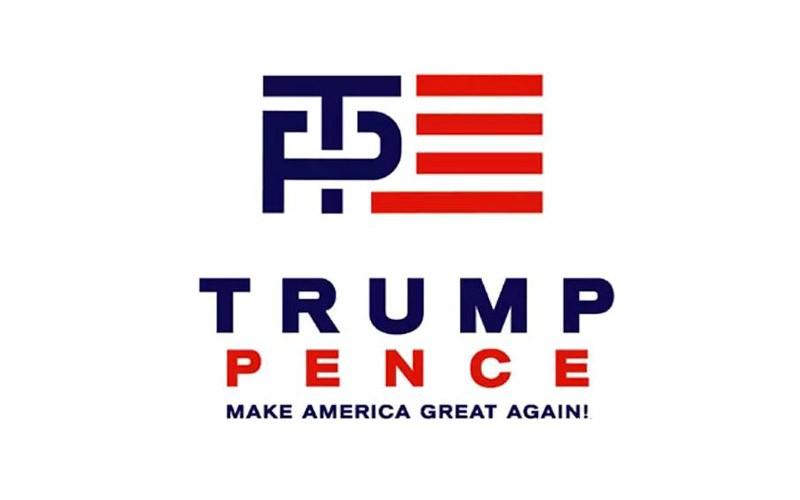 污!川普最新竞选Logo酷似交配图,网友狂吐槽