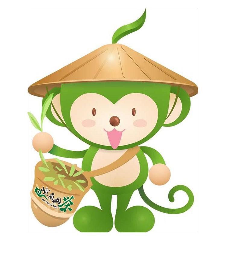 首届峨眉山国际茶博会官方LOGO与吉祥物揭晓