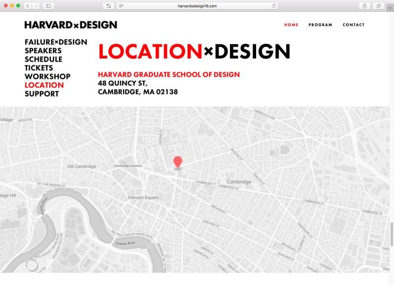 哈佛大学HARVARD x Design 会议视觉形象设计