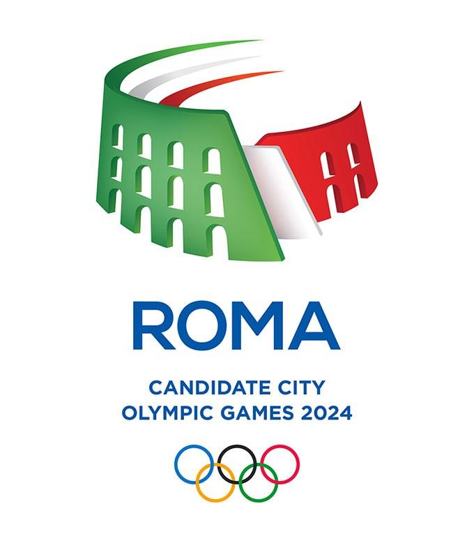 意大利罗马正式公布申办2024年奥运会LOGO