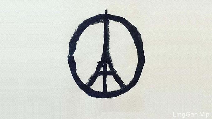 谴责巴黎恐袭!这个Logo图标,瞬间风行社交网络