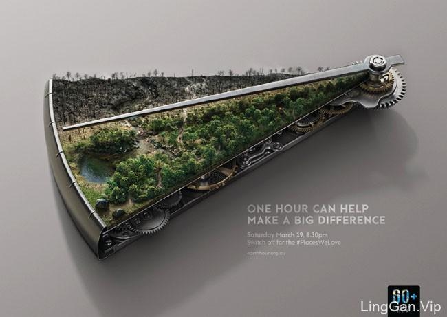 地球一小时(Earth Hour)国外环保节能活动创意设计
