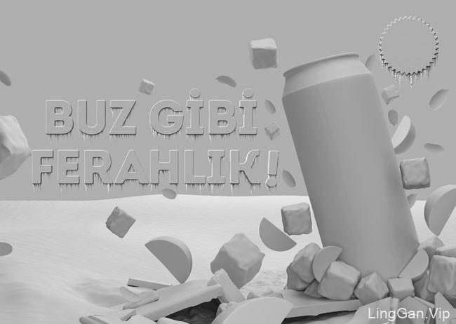 国外立顿冰红茶平面视觉广告设计鉴赏