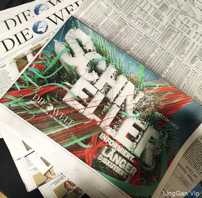 Die Welt德国世界报创意立体字体设计(二)