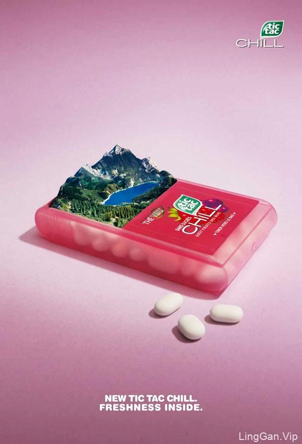 费列罗旗下tic tac糖系列国外风格创意广告设计