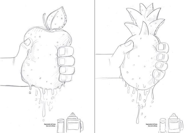 Philips飞利浦榨汁机系列创意广告设计