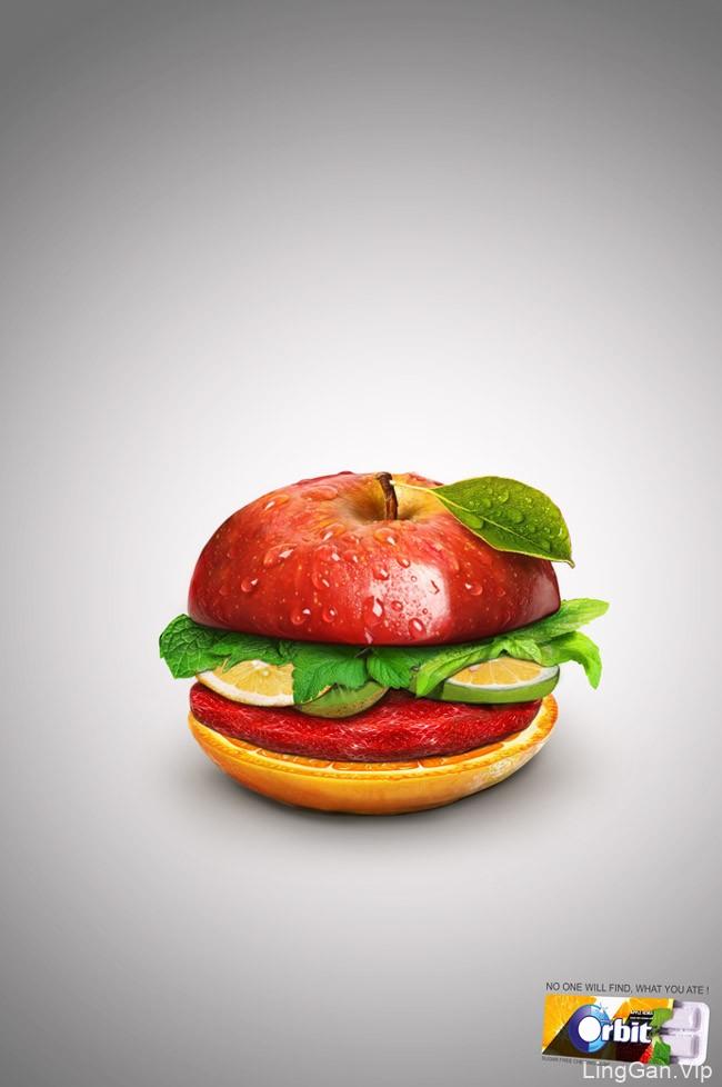 国外Orbit口香糖-糖果系列创意平面广告设计