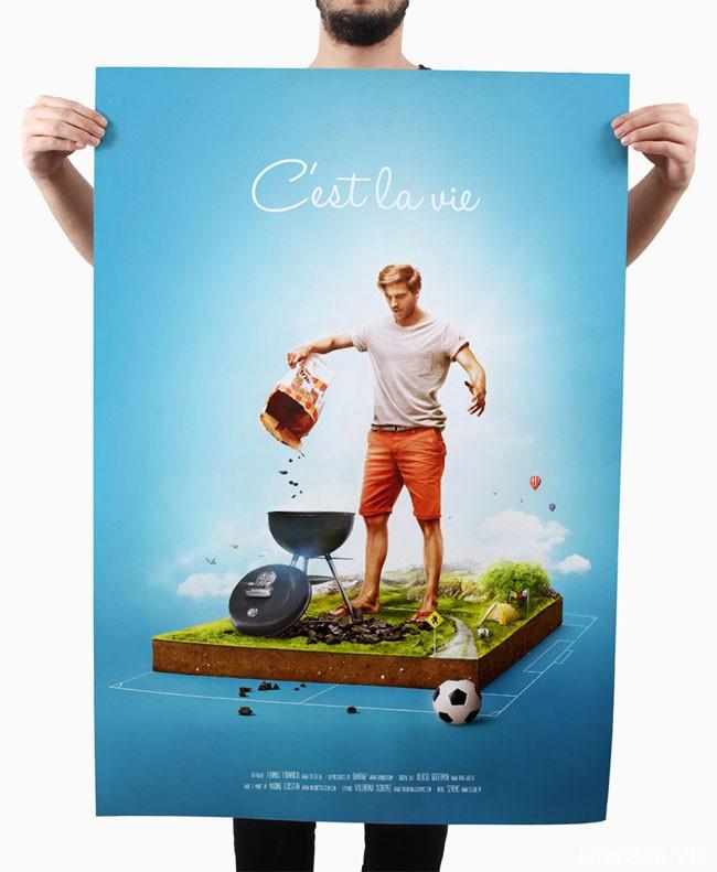 """2016欧洲足球锦标赛主题合成设计:""""这就是生活"""""""