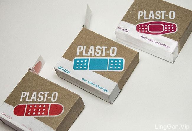 国外Plast-O创可贴包装设计赏析