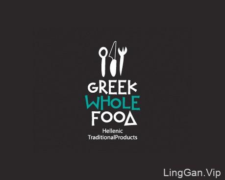 Greek whole food-希腊料理LOGO设计