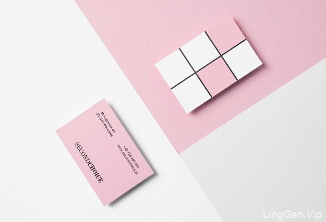 国外粉色Second Choice奢侈品与时装店品牌形象设计