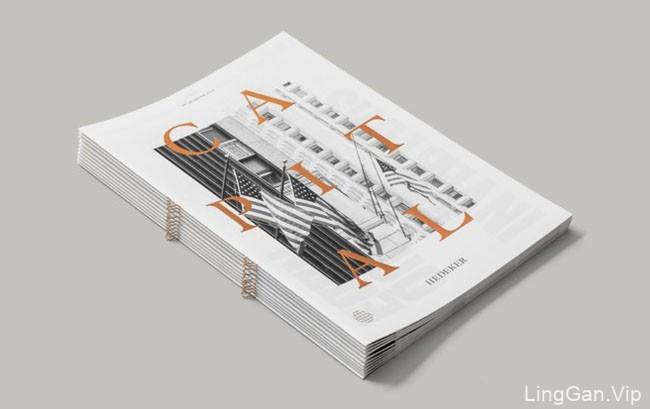 Capital杂志画册封面、内容排版设计