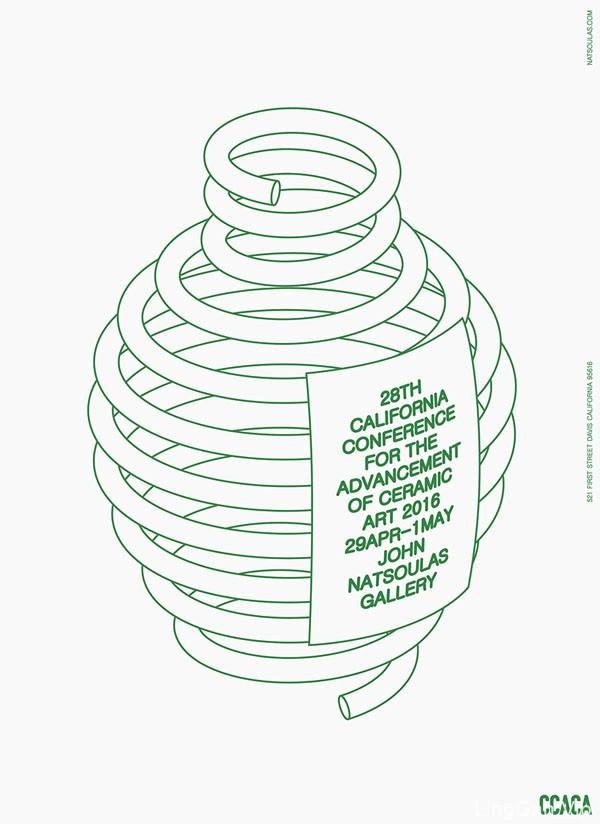 CCACA美国加州陶瓷艺术活动创意海报设计