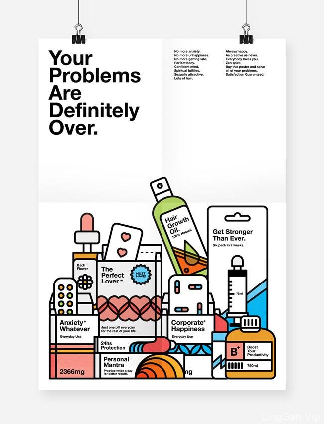 巴西Caio Orio美容产品插图海报设计欣赏
