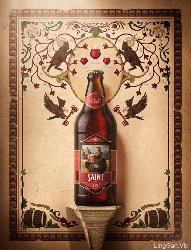 国外Saint Bier啤酒系列海报设计鉴赏