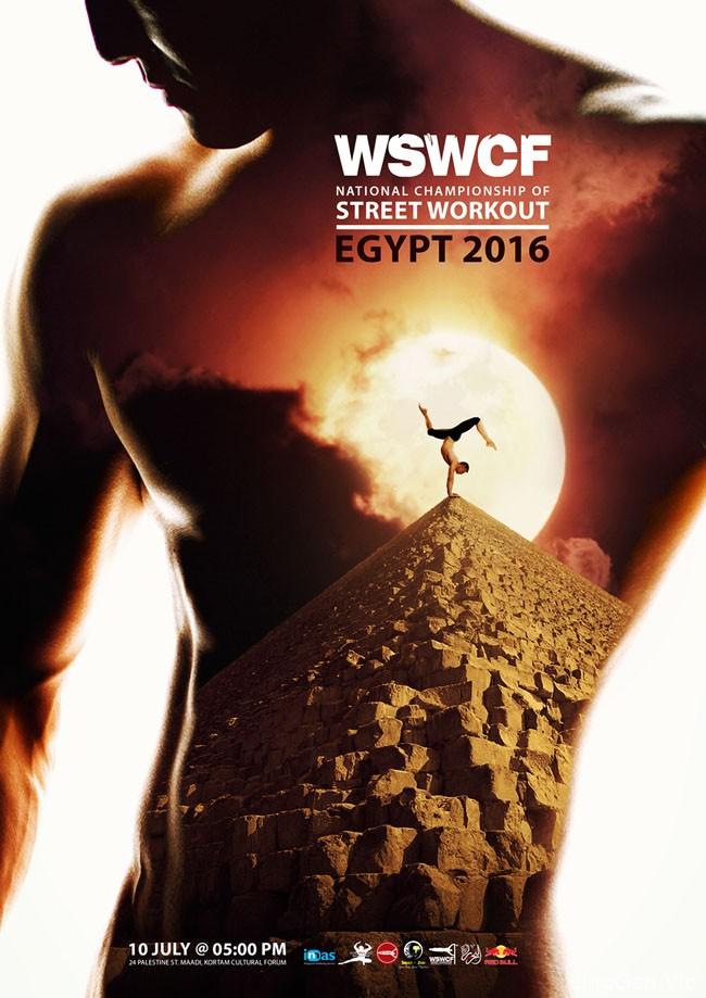 埃及2016 WSWCF健美操宣传海报设计