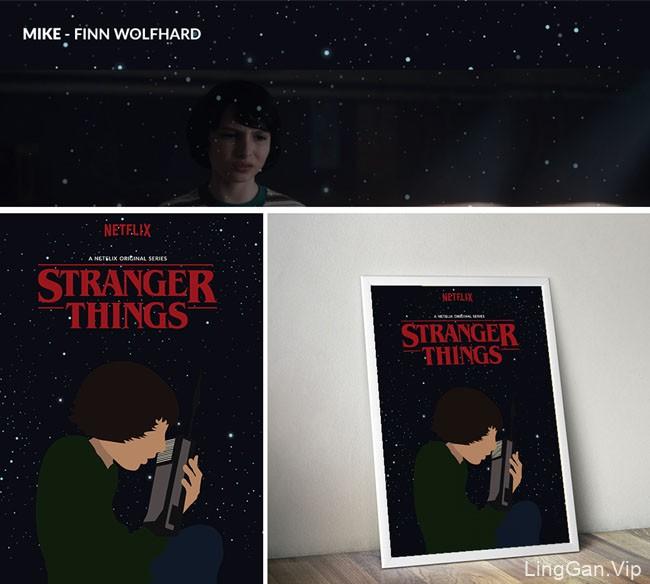 巴西Junior美剧《怪奇物语》角色人物海报设计欣赏