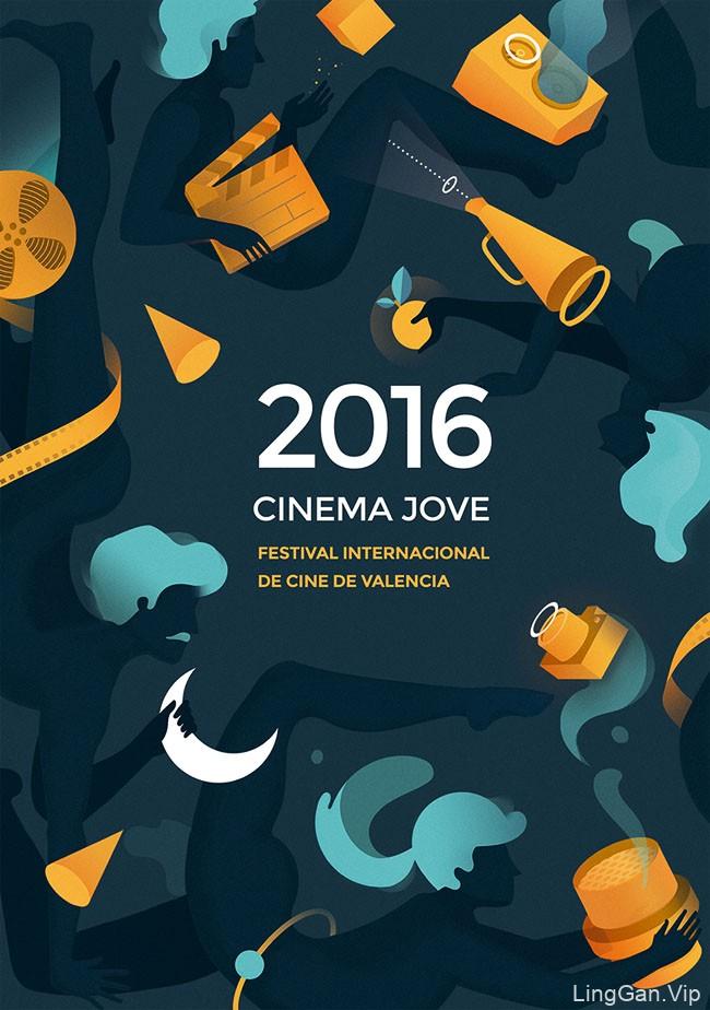 2016西班牙瓦伦西亚国际电影节海报设计欣赏