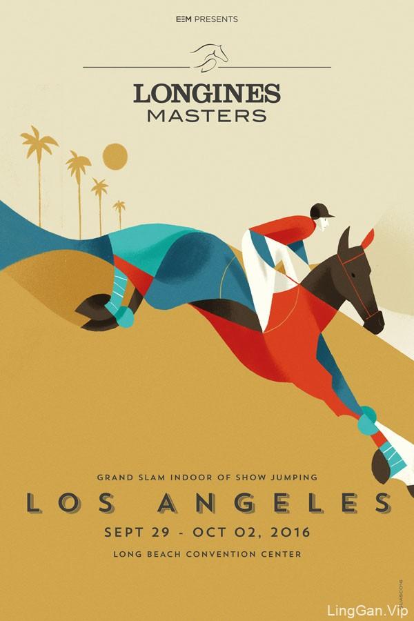 国外LONGINES MAS浪琴表国际马术大师赛系列海报设计