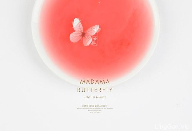 国外MADAMA BUTTERF蝴蝶夫人歌剧唯美海报设计