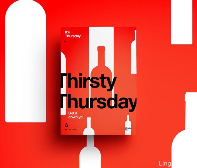 国外设计师的一周每天的主题海报设计欣赏