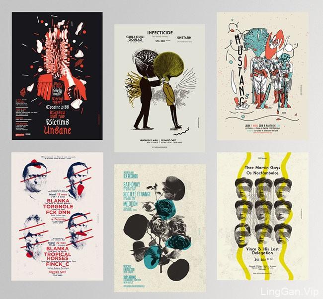 法国设计师Michael Sallit演出海报设计鉴赏
