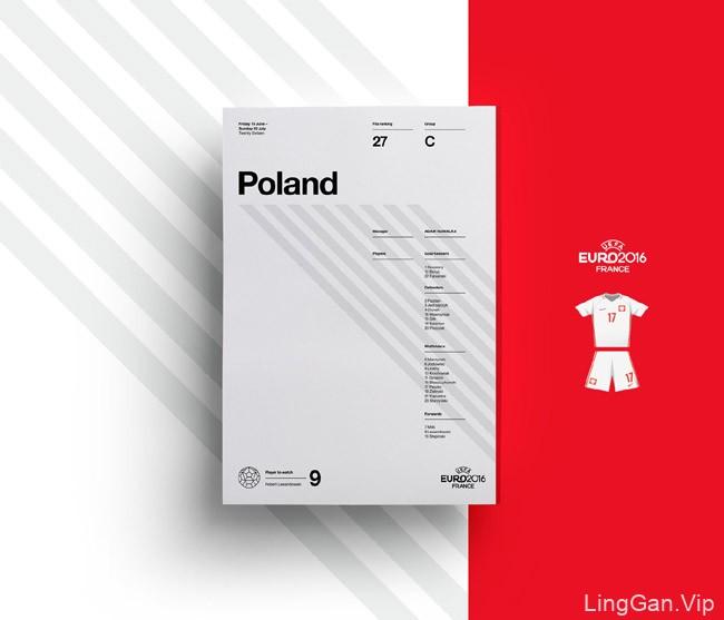 35种英国JQ工作室2016欧锦赛海报设计色彩搭配方案(二)