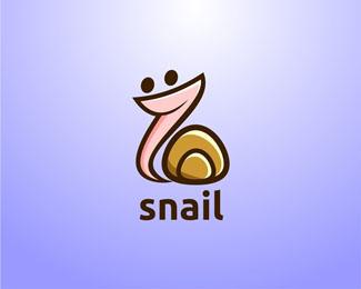 精心收集的18个以蜗牛为元素的LOGO设计欣赏