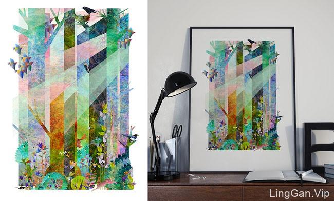 乌克兰设计师ergiy shama插图装饰海报作品设计