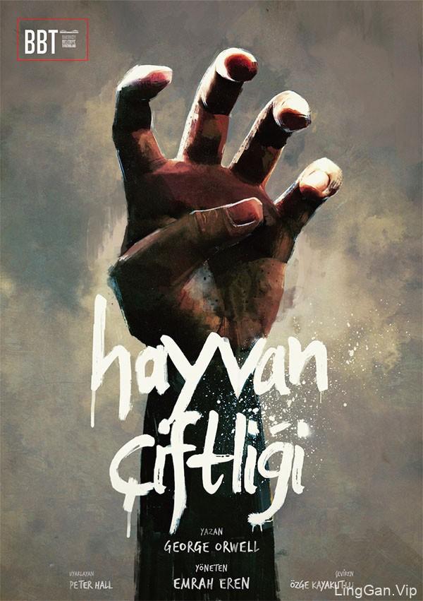 国外7幅BBT剧院插画海报设计创意