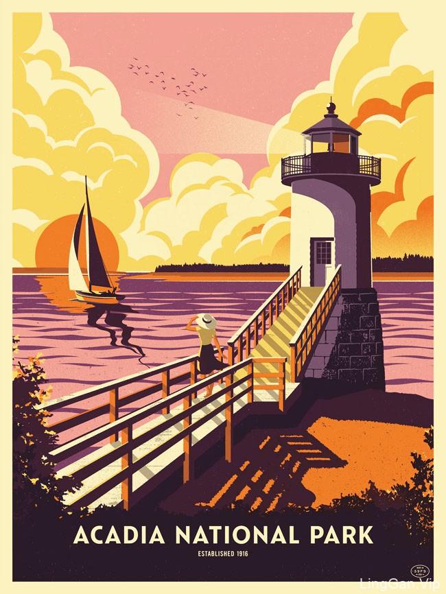 英国设计师Bobby Evans漂亮的插图海报设计作品