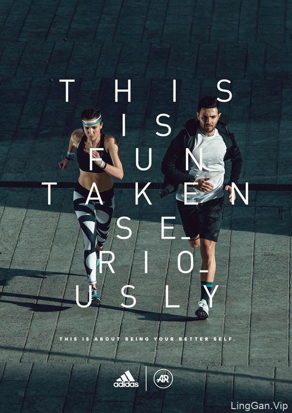 国外adidas runners运动系列海报设计