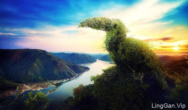 国外Socio Bosque原始森林保护运动数码合成设计