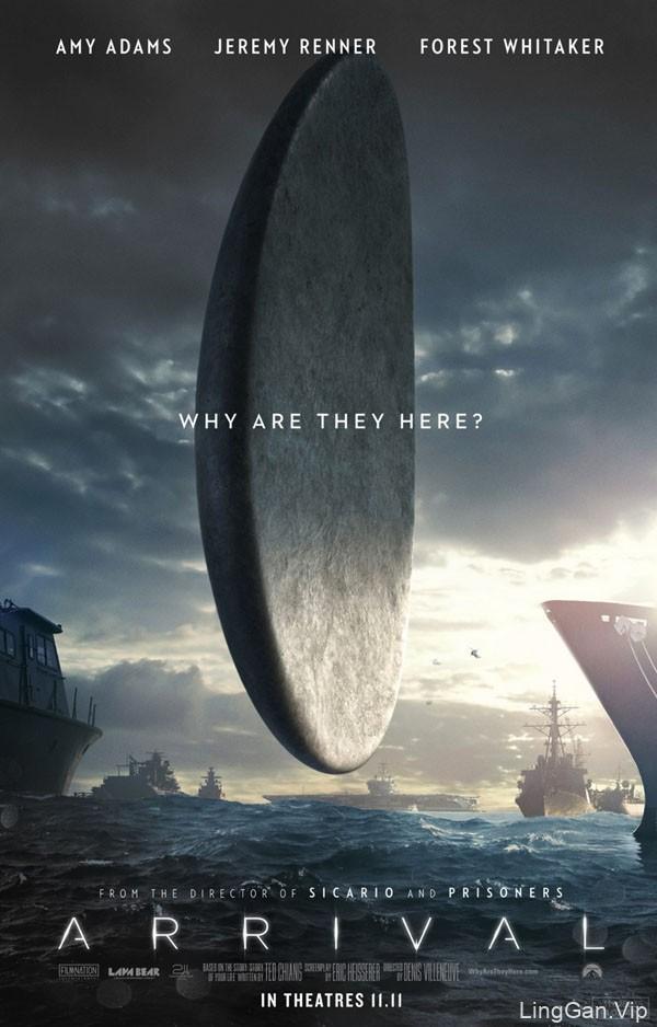 国外科幻电影《Arrival降临》系列宣传海报设计