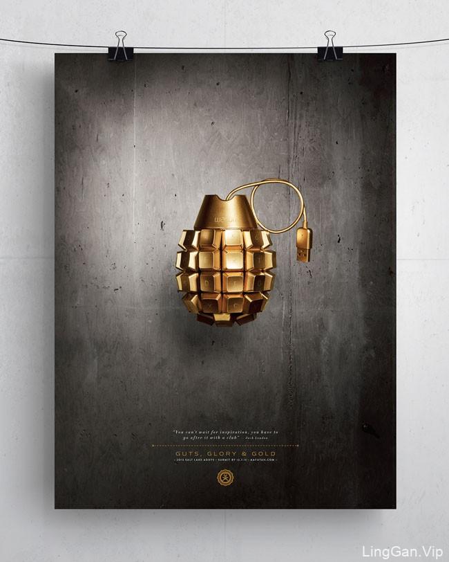 国外Guts Glory & Gold 主题创意海报设计作品