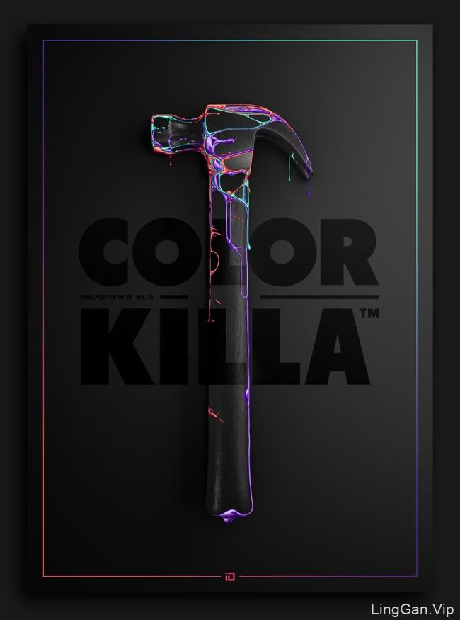 国外Color Killa主题创意海报设计