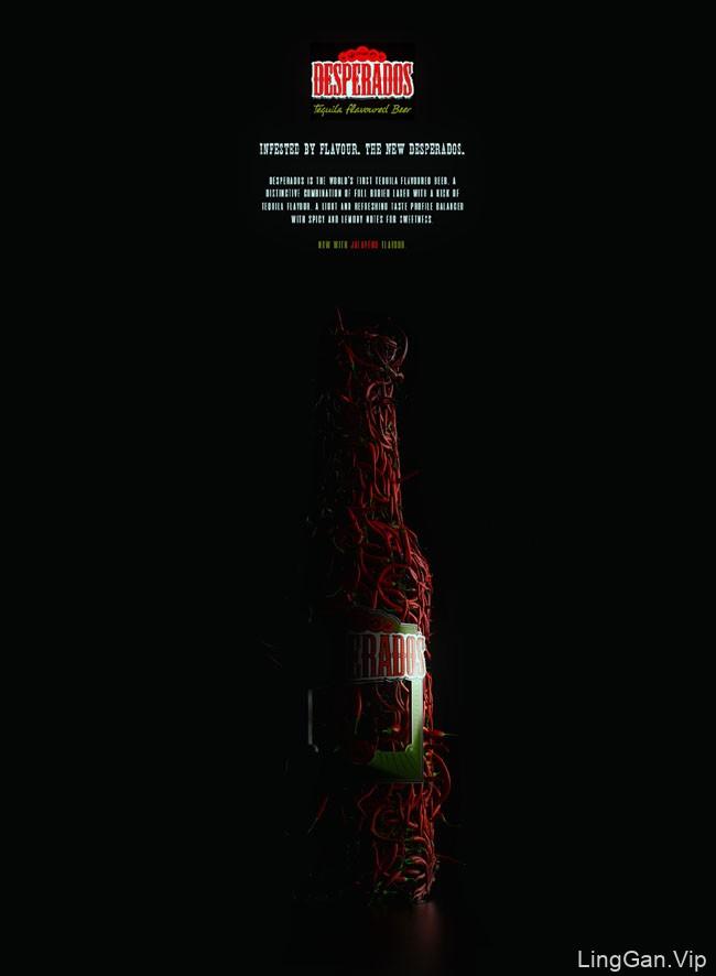 国外Desperados辣椒酱创意海报设计