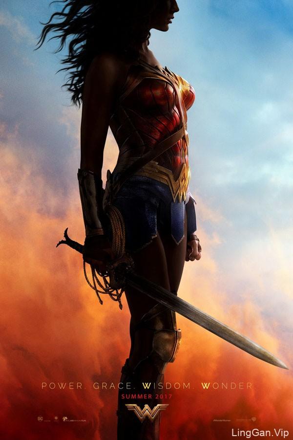 DC超级英雄《神奇女侠》电影海报人物设计