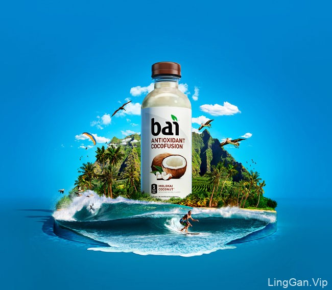 国外Bai果汁美丽的合成设计10P