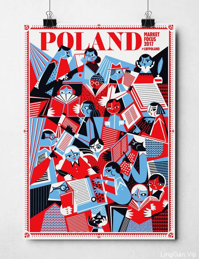 2017伦敦红色版书展插图海报设计