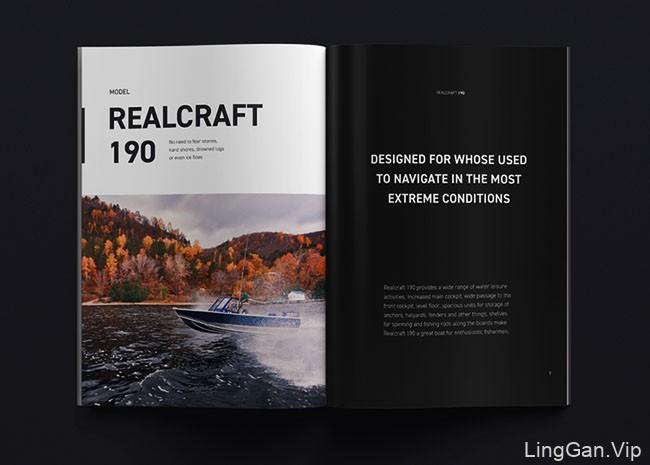 国外Realcraft摩托艇制造商画册设计作品