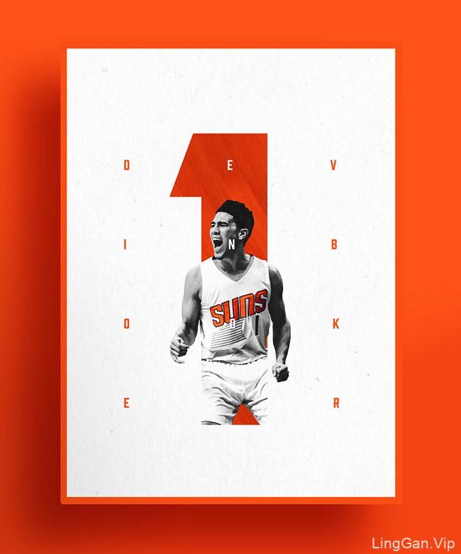 国外NBA Number One''s系列球星海报设计