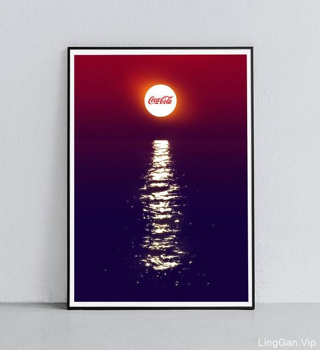 英国设计师SAWDUST可口可乐夏季创意海报设计