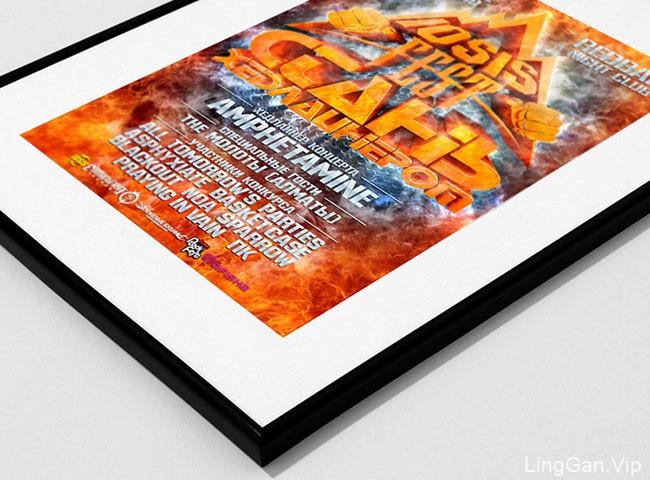 国外设计师Tima Mikheev摇滚音乐会海报设计作品